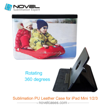 Low Price 360 Rotate Sublimation Leather Tablet Case For iPad MINI