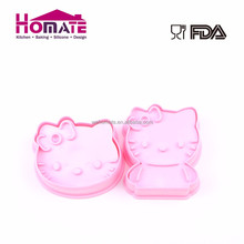 Biscuit Hot Sale Cute Hello Kitty Plastic Shaped Bulk 3D Cookie Cutters