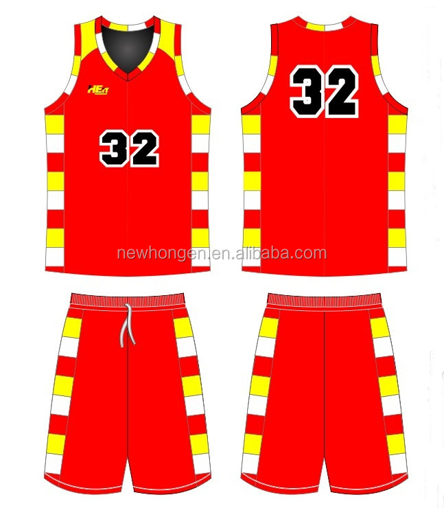polyester basketball jersey uniform design