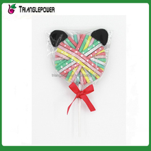 Cute candy colors custom elastic bands hair tie pony tails for kids