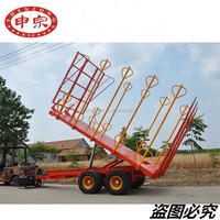 Heavy Duty Hydraulic Tipping Farm Trailer For Tractor