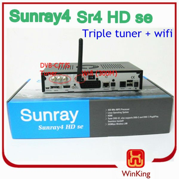 sunray sr4+wifi terrestrial receiver TV BOX Set top satellite cable receiver
