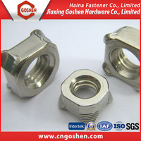 DIN928 Ss304 Stainless Steel square Weld Nuts