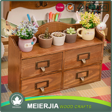 4 drawers storage box small items wood box 802098