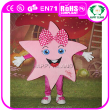 Hot sale Pink star shape mascot costume, custom made costumes for adults