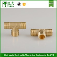 China-made Customized Brass Male Threaded Tee Fitting