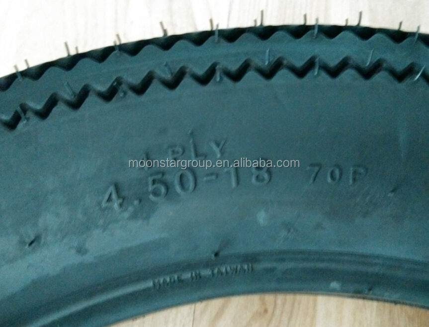 Antique motorcycle sawtooth motorcycle tyre 4.50-18
