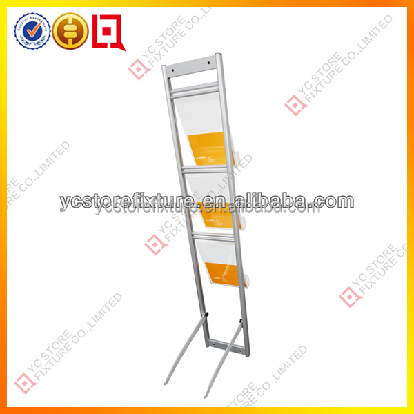 Brochure Display Stand Metal Brochure Display Rack