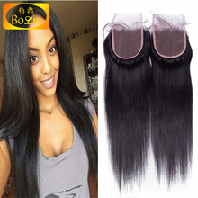 factory wholesale price brazilian silk straight natural looking 4x4 top closure lace front closure piece