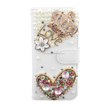 Colorful Leather Wallet Bling Phone Case For Cell Phone Flip Stand Card Holder DIY Cover For Samsung Galaxy Note 3/4/5