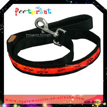 Safety pet product Led glowing lead leash Dark glow pet product in stock lead leash B4025