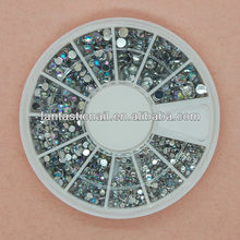 2014 New Arrival Mixed Size AB Colors Acrylic 3D Flatback Nail Art Rhinestone.FN-147