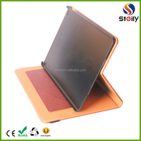 Factory Wholesale PU Leather Case with Stand for iPad 6 Leather Flip Folio Cover for iPad 6 Brown Smart Tablet Case for iPad 2