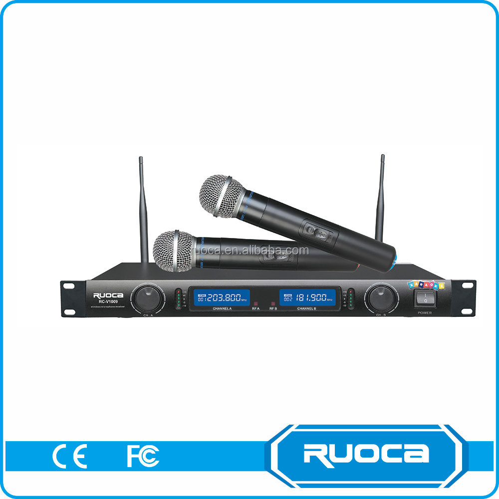 High power collar headset vhf professional wireless microphone system