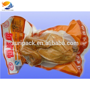 Flat plastic food bag heat sealable meat packaging shrink plastic bags for frozen food