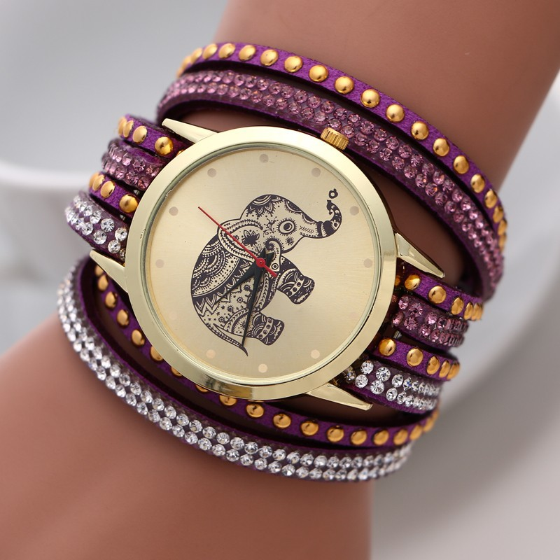 Alibaba china trend design chronograph vogue watches popular lady watch with elephant WW153