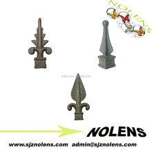Metal spear points wrought iron gate parts