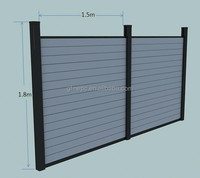 WPC Garden Fence Panel wood Plastic Composite Fence