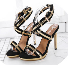 K2098A Hot Sexy Hollow Out Sandals 2017 Women High Heel Shoes Pictures Of Ladies