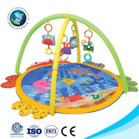Comfotable educational kids toy baby play gym mat cheap soft cute mat for baby crawling
