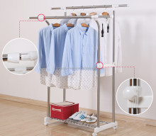 Extendable Clothes Drying Rack Stand Clothes Hanger