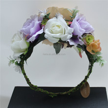 Our own brand hair flower women accessories felt flower hair accessories purple