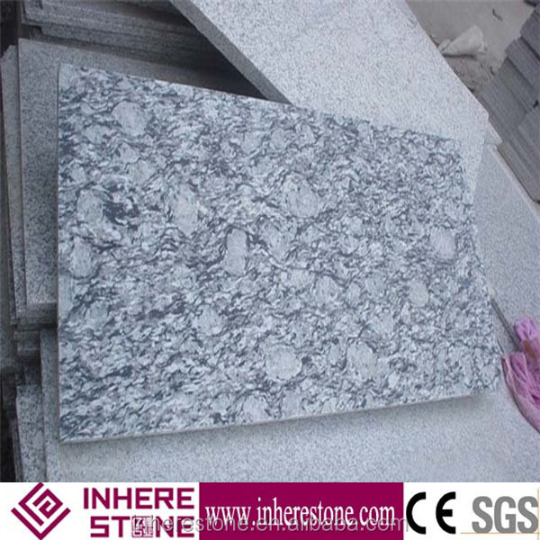 Spray White Granite,wave flower granite, ocean flower granite