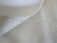 100% polyester microfiber bonded suede fabric for sofa