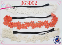 Factory Wholesale White,Antique White,Watermelon 3PK Hair Accessories Elastic Rope Headbands
