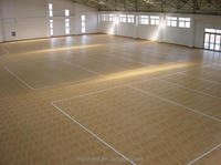 Vinyl volleyball court sports floor mat