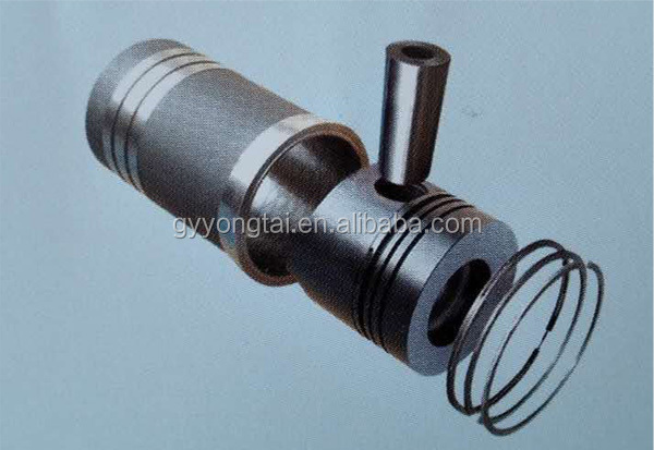 Farm tractor spare parts piston and piston pin and ring and cylinder liner assembly
