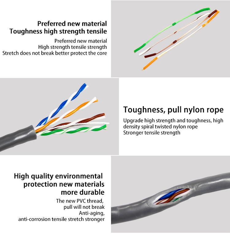 SIPU high quality factory price 305 m cat6 network cable price per meter cat 6 utp ftp sftp lan cable