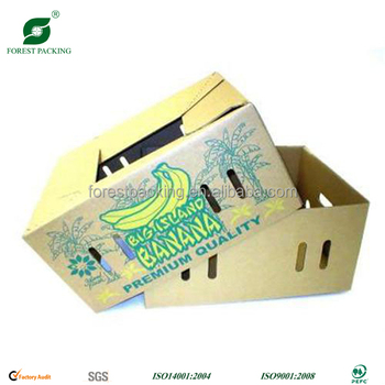 Forest Packing high quality banana fruit carton box (banana box,apple box, pear box)