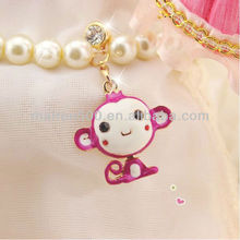 free shipping New Cellphone Accessories monkey Earphone Dust Plug (XT-017)