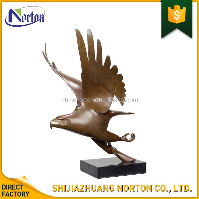 home used table decoration abstract eagle sculpture bronze finish NT-BS260Y