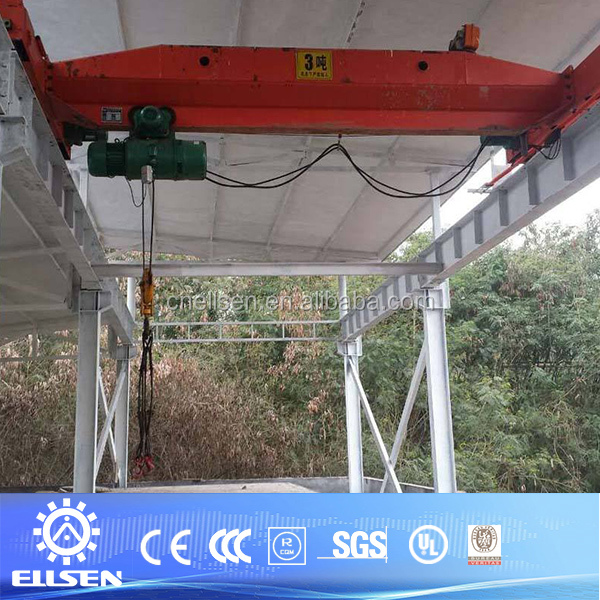 LD model single beam 3t overhead crane for sale