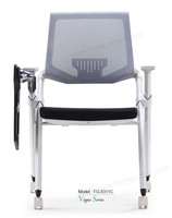Triumph Mesh back conference chairs with writing tablet / office training room chairs with casters / folding office chair