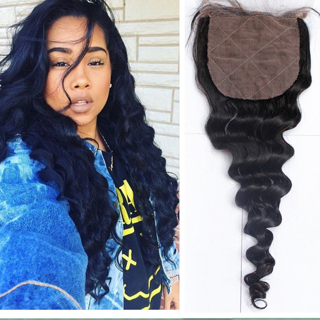 Cheap remy wet and wavy bohemian lace frontal 3 part silk base lace closure with baby hair