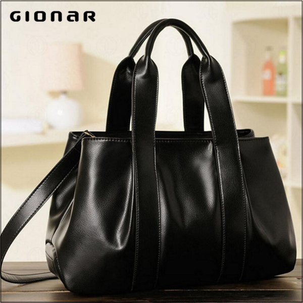 Dropshipping Plain Black Multicolor PU Leather Tote Hobo Sling Shoulder Promotional Bag