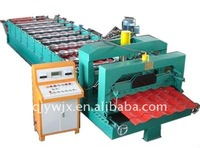 Automatic Glazed Steel Rim Roof Tile Roll Forming Machine