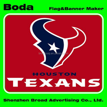 12x18inch polyester houston texans car flag with plastic pole