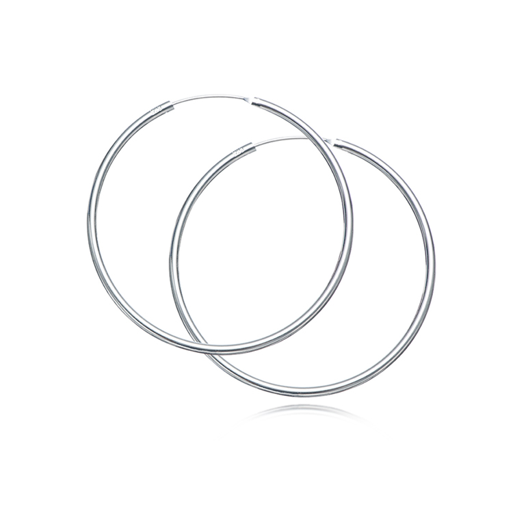 Fashion Big Small Circle Jewelry Set Simple 925 Sterling Silver Loop Hoop <strong>Earring</strong> For Woman