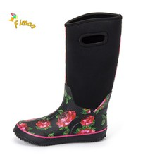 Neoprene boots women wellies