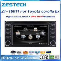 6.2 inch car audio video entertainment navigation system for Toyota Sienta car stereo with GPS, Radio, SWC, DTV, ATV, DVR, 3G
