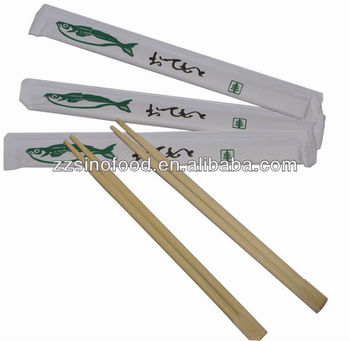 paper wrapped Tensoge Disposable Bamboo Chopsticks