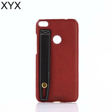 Top-grade hand feeling leather back case with hand belt for xiaomi redmi note 2