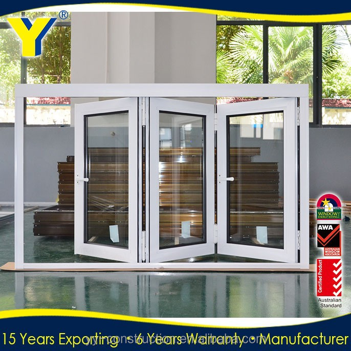 Double glazed Aluminum bi-folding ventilation Window /AS2047/NZS2208 certified folding,bifold window,accordion window