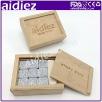Light Grey Cold Rocks Whisky Stone FDA With Gift Box