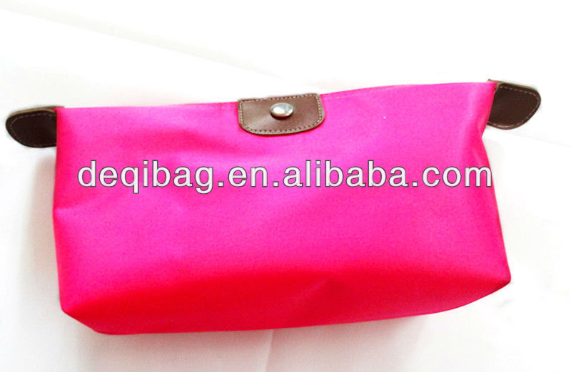 2013 lady's casual design nylon cosmetic bag