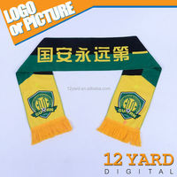 China made factory direct-selling polyester scarf sport match fans shawl